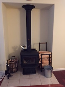 Pacific Energy Super 27 Wood Stove Plus Stove Pipe