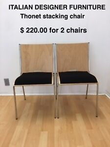 2 stacking chairs for sale - brand new
