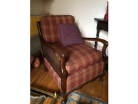 Mahogony caned Vintage Bergere Armchair