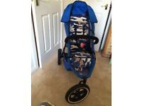 Phil and Ted Sport Buggy in Camo Blue