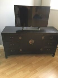 Cabinet / chest PLUS matching side table for sale