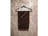 Louis vuitton x supreme scarf:£700,bandana £500 and sneakers:1150