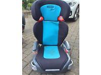 Graco Junior Maxi car seat blue. 4 years plus.