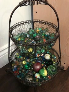 Two Tier Basket of Marbles