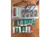 Battery charger with rechargeable batteries