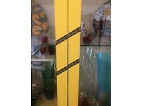 Yellow Glass Display Cabinet
