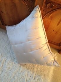 The White Company Large Silk Cushion and Duck Feather Cushion Pad