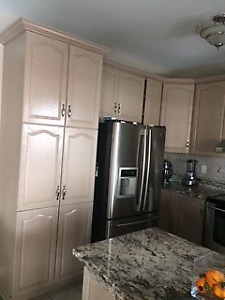 Oak Kitchen Cabinets and Upgraded Granite-Great Condition