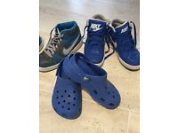 Nike trainers and crocs Boys size 3