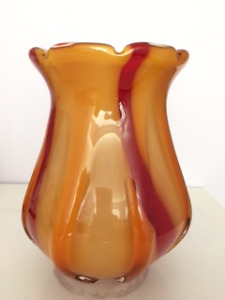 European glass vase