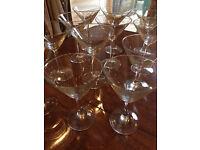12 Martini Glasses - £10 - Mile End