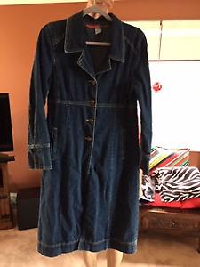 Women's Long Denim Coat