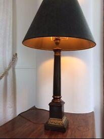 Laura Ashley column lamp base and shade £18