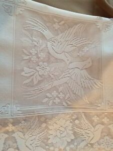 Vintage Ivory Tablecloth