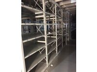 JOBLOT 50 bays of LINK industrial shelving 2.5m high AS NEW ( storage , pallet racking )