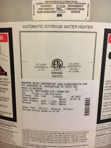 New 61 Gallon Bradford White Electric Water Heater London Ontario image 3