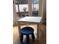 Small Table with blue stool