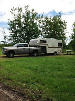 NEW PRICE Vintage Retro Bigfoot half ton pullable 5th wheel