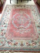 BEAUTIFUL Aubusson Floor Rug - Pink with Cream Boarder Lindfield Ku-ring-gai Area Preview