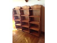 Reclaimed pine bookcases