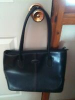 Black Leather Tods Purse