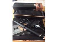 ghd Curve creative curl wand inc limited edition rose gold roll bag