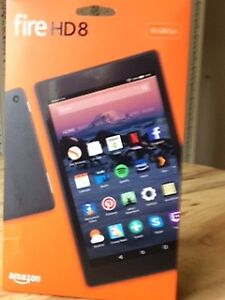 Fire HD8 Tablet with case (NEW) still in box. call 604-596-2785