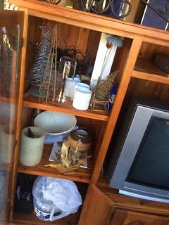 Solid timber TV cabinet pick up only St Johns Park Fairfield Area Preview