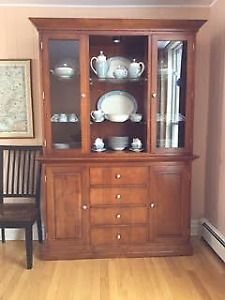 Buffet with china cabinet on top