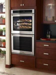 "KitchenAid Double Wall Oven/36"" Gas Cooktop"