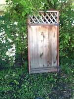 fence panels and gate