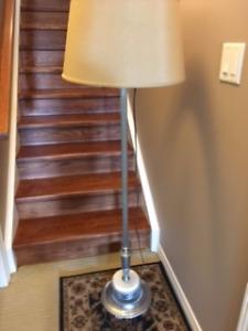 Vintage Chrome /Marble Floor Lamp