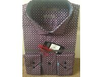 Jeff Banks luxury 100% cotton shirt - brand new. Size L, vet 41 - 43in. Still shop-wrapped.