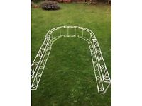 Metal Arch @ £50 - ideal for weddings or garden . Only used once, and great condition.