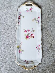 antique limoges dishes serving tray  France