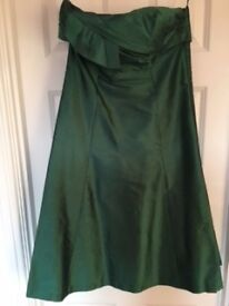 Coast Green Silk Dress Size 12