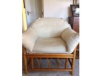 Unsual large cane chair