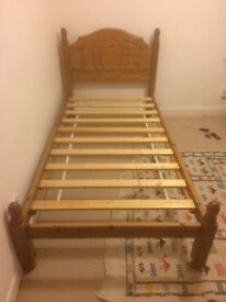 Single bed, solid pine