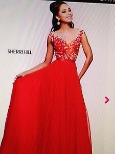 Stunning Sherri Hill Ruby-Red Gown