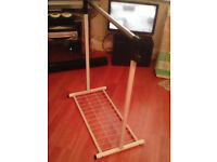 Fully height adjustable metal hanging clothing rail light weight 10 pounds no offers