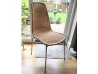 Ikea wicker chair with metal legs