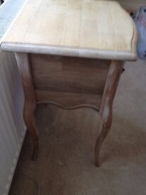 Bedside table shabby chic elegant real wood