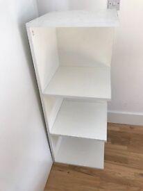 IKEA White Corner Bookshelf