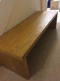 TV Cabinet (Light Teak Wood) - Excellent Condition - Heavily reduced as need to sell asap.