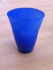 Blue Glass Vase/Ornament