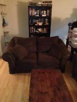 Dark Brown Couch Set from Sears