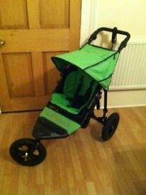 Out n About nipper 360 single buggy/pram, Green