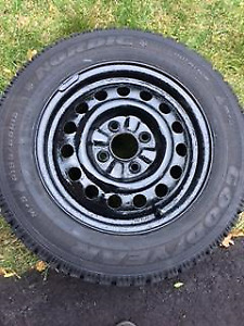 Winter Tires on Rims  -  Goodyear Nordic P195/65R15 - 4 Bolt