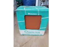 18 boxes of 9 Wicks Red Quarry Tiles 15 x 15 cm covers approx 0.2sq.m