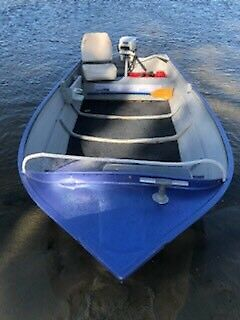 Boat package licenced tinny dingy and trailer with outboard